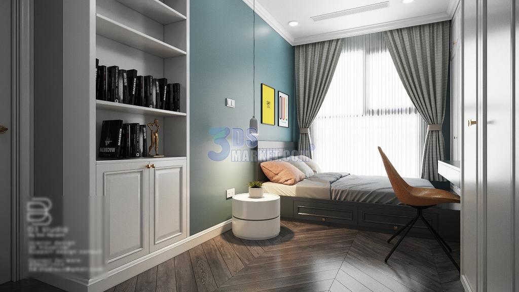 Bedroom Apartment ID D3STUDIO - VRAY + CORONA - 3DS Market