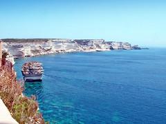 France, la Corse, la côte avec les falaises à Bonifacio