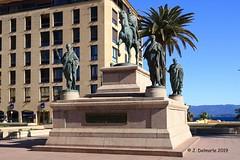 2A AJACCIO - Statue équestre de Napoléon Ier et ses frères