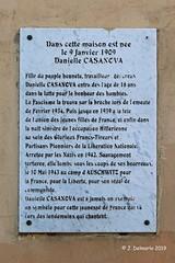 2A AJACCIO - Plaque commémorative de Danielle Casanova