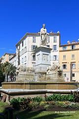 2A AJACCIO - Statue de Bonaparte Premier Consul