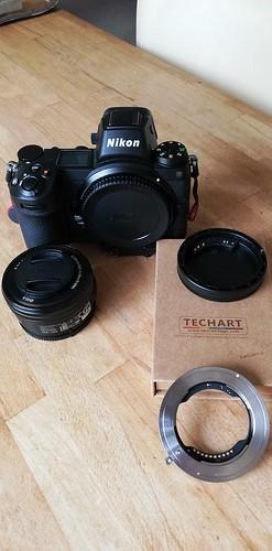 Nikon Z7; Techart TZE-01; Sony E PZ 16-50 OSS