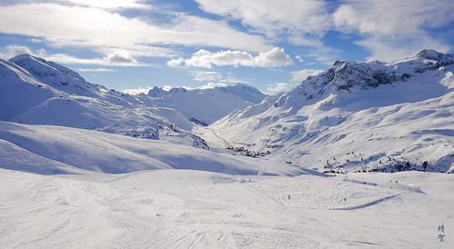 Alpine piste at Zürs