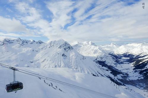 Lech am Arlberg view from Rüfikopf