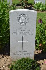CWGC Major Albert Ernest Barton - Photo of Thélus