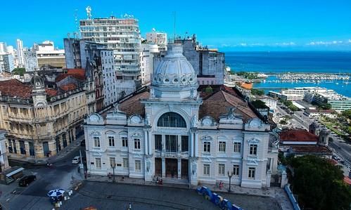 Palácio Rio Branco - Salvador Bahia - Brasil #dronephotography #djispark #drone #DroneDJI #DroneBahia #aerial_view #aerialview #viewfromthetop #dji  #drones #dronelife #droneworld #droneshot #aerialphotography