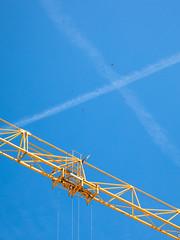 Crane and planes
