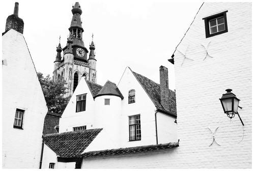Béguinage Sainte-Élisabeth de Courtrai et église Saint-Martin, Kortrijk (Courtrai) Flandre Occidentale, Belgium