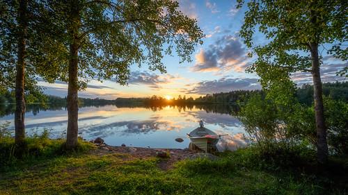 River Oulujoki sunset