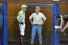 2018-11-02 (46) r9 Johan Rosada gets brief from trainer Patrick Magill