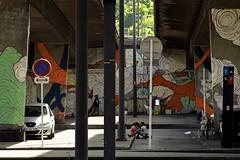 Lyon - Sous le pont de l'autoroute à Confluence. - Photo of Irigny