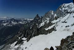 Mont Blanc and Aiguille Noire de Peuterey