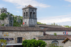 2261 Labeaume. Le clocher de l'église Saint-Pierre-aux-Liens