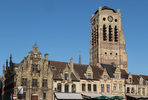 Flemish architecture in Veurne, West-Flanders