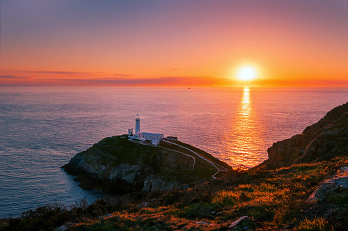 Sunset at South Stack Lighthouse, Holy Island, Wales