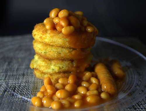 Fishcakes and Beans