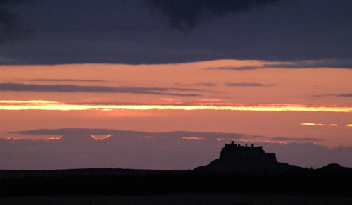 'Crack of Dawn' Over Lindisfarne Castle - Holy Island