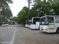 IRISBUS Récréo - 021115 et IRISBUS Arway - 073336 et MERCEDES-BENZ Conecto - 051100 et RENAULT Iliade RTX - 018002 et RENAULT Récréo - 011086 - Keolis Cars de Bordeaux - Photo of Le Teich