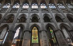 inside, floating in its glorious history, the magnificent Cathédrale Notre-Dame de l'Assomption de Rouen (Rouen Cathedral), Rouen, Seine-Maritime, Normandie, France. fine art colour