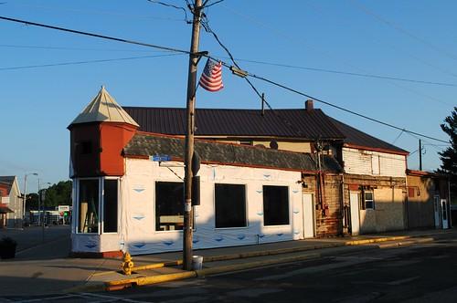 Corner building in Orfordville, Wisconsin