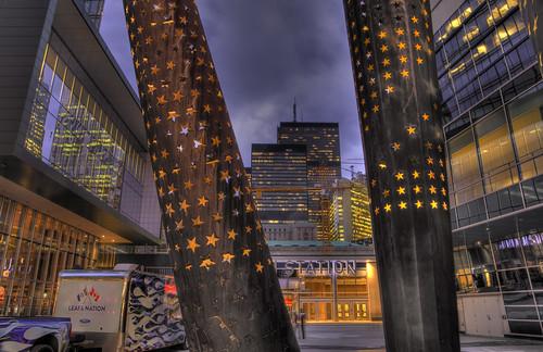 Search Light, Star Light, Spot Light Sculpture at Air Canada Centre, Toronto