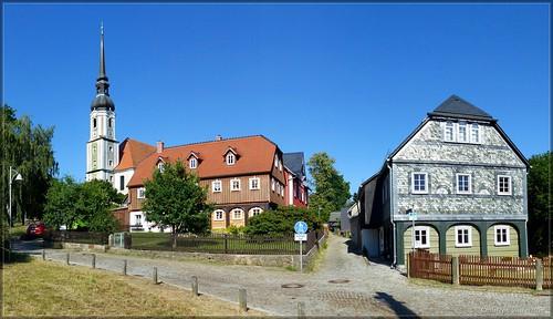 Cunewalde mit der größten (evang.) Dorfkirche Deutschlands