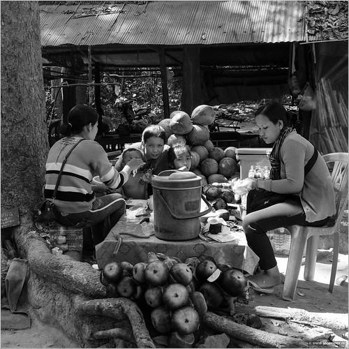 Cambodian family near Angkor Wat