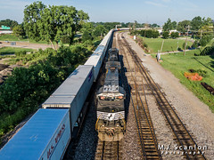 NS 9887 | GE C44-9W | BNSF Thayer South Subdivision