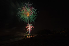 Image by Mi Bob (springlake) and image name 4th of July Fireworks photo  about At the beach in Venice Florida