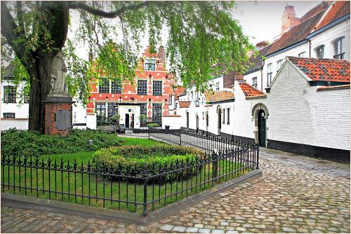 Béguinage Sainte-Élisabeth de Courtrai, Kortrijk (Courtrai) Flandre Occidentale, Belgium