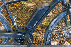 Close-up of a blackE-bike battery by Fischer