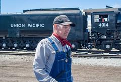 Ed Dickens w/UP 4014 Ogden, Utah