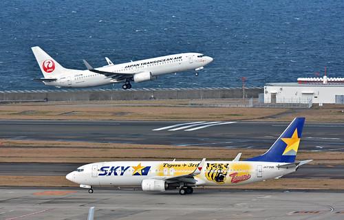 Skymark Airlines, JA73NR, Boeing 737-8FH at NGO