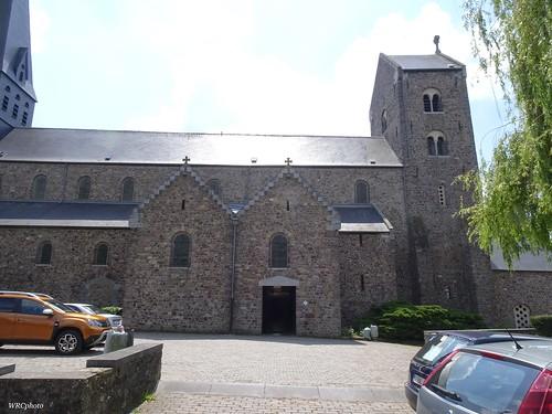 Arrière de la collégiale de Lobbes, Belgique.