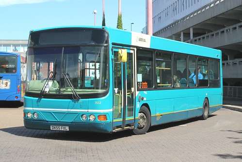 Arriva Kent Thameside / Arriva Southern Counties . 3512 DK55FXL . Harlow Bus Station , Essex . Friday 05th-July-2019 .