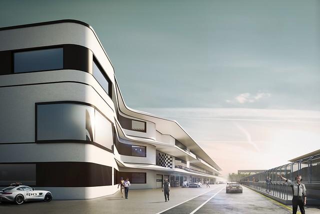 O autódromo terá capacidade de 80 mil lugares fixos, podendo ultrapassar 135 mil com estruturas provisórias, contará com uma pista de 4,5 km - Créditos: Foto: Divulgação