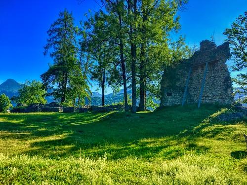 Ruins of Auerburg fortress in Oberaudorf, Bavaria, Germany