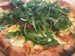 Meyer lemon pizza at Corkscrew Cafe