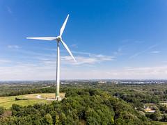 Erneuerbare Energien durch die städtische Windkraftanlage in München-Fröttmaning