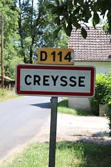 Creysse - Panneau du village - Photo of Montvalent