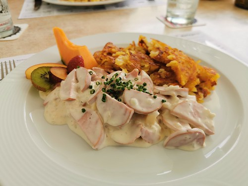 Traditional Swiss lunch in Röthenbach, Switzerland
