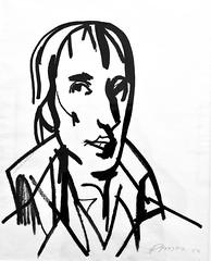 Bocage Portrait (1983) - Julio Pomar (1926-2018)
