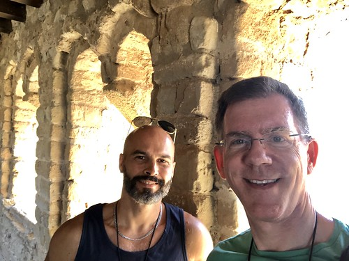 Alejandro and Paul in Torre de la Reina, Loarre Castle, Loarre, Spain