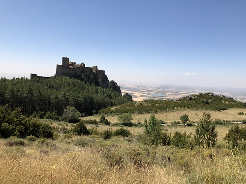 Loarre Castle and plains below, Loarre, Spain