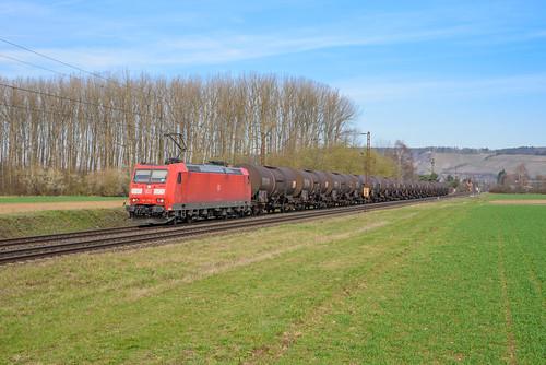 DBC 185 176 met keteltrein, Retzbach