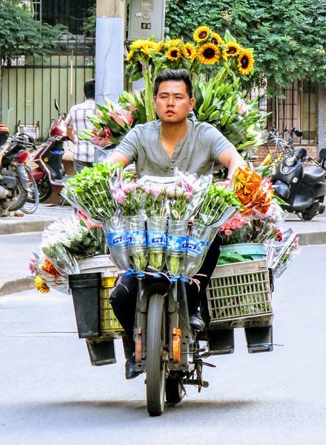 Flower delivery man, #Shanghai