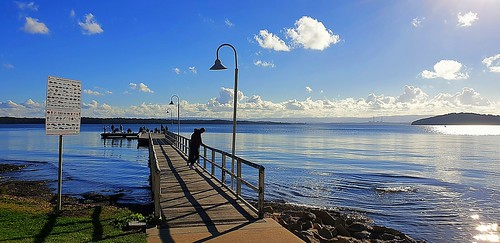 A beautiful sunny day at the Manly Beach Newcastle
