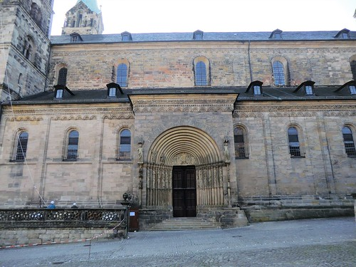 Bamberg in Bavaria: Princes' Doorway of the cathedral