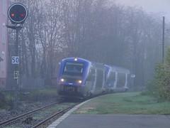 Entrée en gare dans la brume pour ces deux ATER... - Photo of Jarrie
