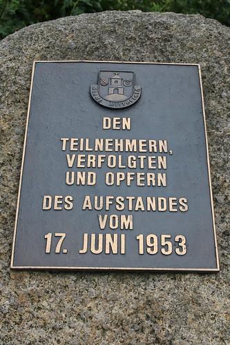 Bitterfeld-Wolfen: Gedenkstein an den Aufstand am 17. Juni 1953 in Bitterfeld